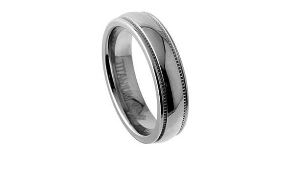 JewelryVolt TIR-081 7mm Titanium Wedding Band Modern Style