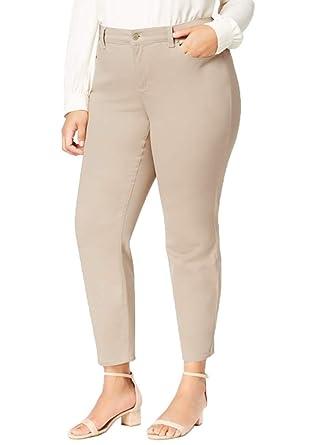 dd0dd3415b5 Charter Club Plus Size Bristol Tummy-Control Ankle Jeans (16W) at ...