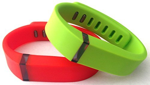 1pc 리얼 레드 1pc 라임 그린 밴드 Fitbit FLEX 전용 클램프 교체 없음 트래커 없음/Small 1pc Real Red 1pc Lime Green Band for Fitbit FLEX Only With Clasps Replacement  No tracker