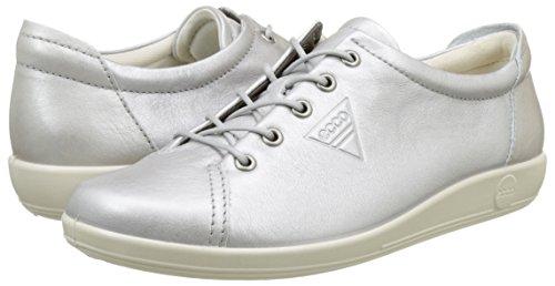 Basses Silber Sneakers Femme Ecco Soft 0 1708alusilver 2 wIn7TA