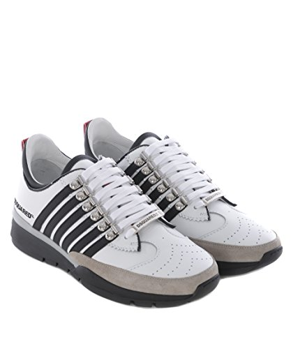Dsquared2 Homme SNM01011157M072 Blanc Cuir Baskets