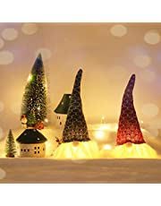 19 Inches Handmade Christmas Gnome Decoration Swedish Figurines (LED (2 Pack))