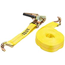 Keeper 04622 Heavy Duty 27' x 2'' Ratcheting Tie Down, 10,000 lbs Rated Capacity with Double J-Hooks