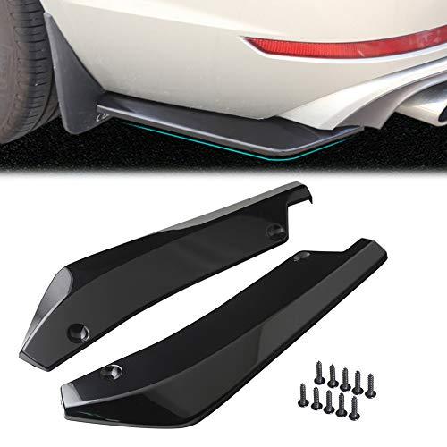 (GZYF Universal Rear Bumper Lip Diffuser Winglet Spoiler Canards Splitter, Glossy Black)