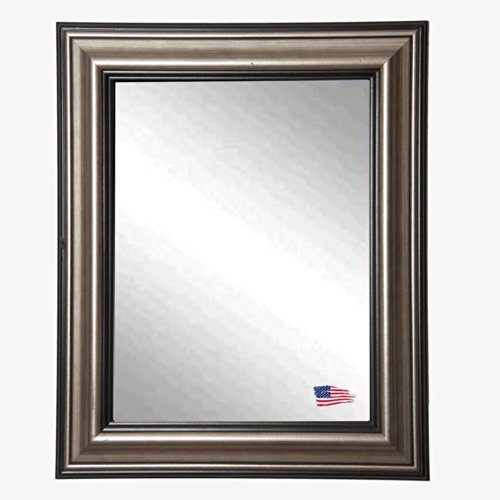 American Made Rayne Smoked Silver Wall Mirror, 29.5 x 35.5 (Antique Brown Wall Mirror)