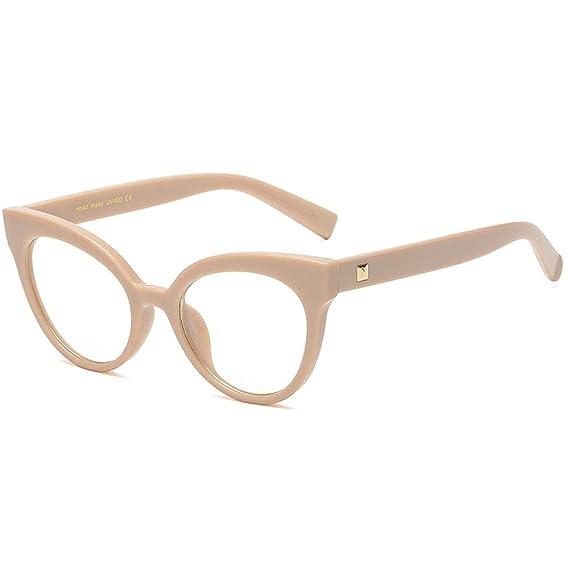 Trend Fashion INS Gafas Ojo de gato Metal Gafas ópticas No prescripción  Marcos de anteojos clara e283d27b45a0