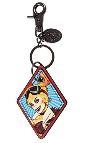 DC+Comics Products : The Coop DC Comics Bombshells: Harley Quinn Faux Leather Keychain