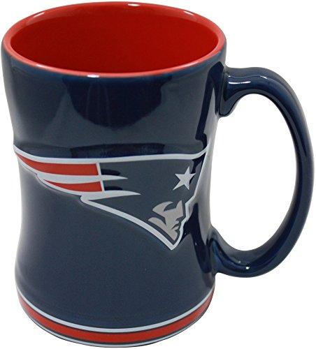 (Boelter NFL Sculpted Coffee Mug, 15 Ounces, New England Patriots)