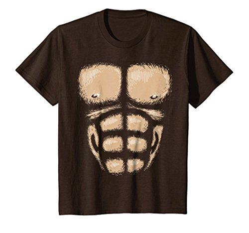 Kids Monkey Chest Muscles Shirt Halloween Costume Gorilla Suit 6 (Gorilla Costume Diy)
