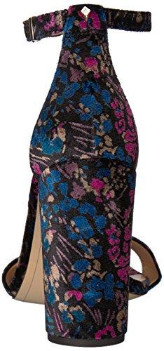 Women's Floral Edelman Yaro Multi Black Velvet Basilica Sandal Heeled Sam HUqp5wSS