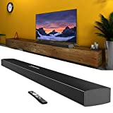 Meidong Sound Bars for TV, Soundbar with Bluetooth Speakers Wireless and Wired HiFi Stereo Audio KY2000 Upgraded (43 inch)