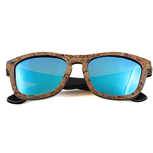 sol sol sol de Retro Personalidad a UV Gafas de blandas polarizadas hombres mano conducción Gafas de Protección Playa sol de los hechas de calidad de Azul Gafas de d sol de Gafas alta madera de Gafas Gafas q7pqY5