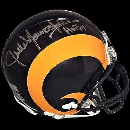 4b3933b86 Jack Youngblood Autographed Signed Auto Los Angeles Rams Yellow Throwback  Mini Helmet HOF 01 - Certified