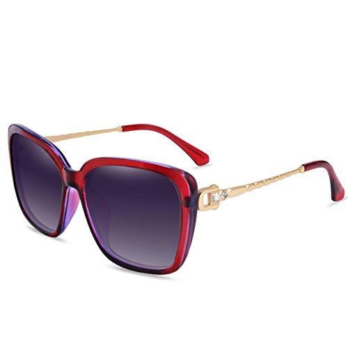 star des lunettes des lunettes de soleil les lunettes de soleil courant nouvelle série de couleur des yeux le visage rond korean rétrodeux fleurs rouges (tissu) UaE7EjrgJZ
