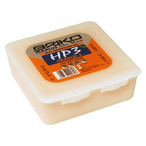 Briko-Maplus HP3 Orange 2 High Fluorinated Ski and Snowboard Solid Wax (250 Grams)