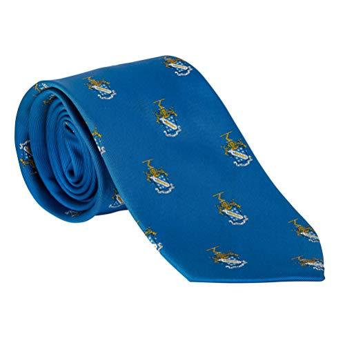 (Phi Delta Theta Fraternity Necktie Tie Greek Formal Occasion Standard Length Width Phi Delt (Repeating Crest Necktie))