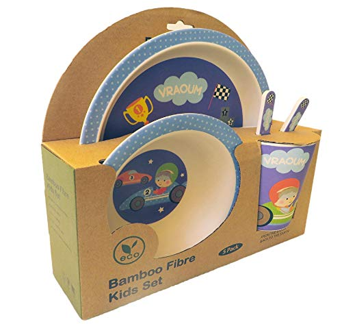 Roldeo Set vajilla Infantil bamb/ú 5 Piezas ecol/ógica.