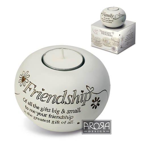 Arora Said with Sentiment Tealight Holder - Friendship Arora Design