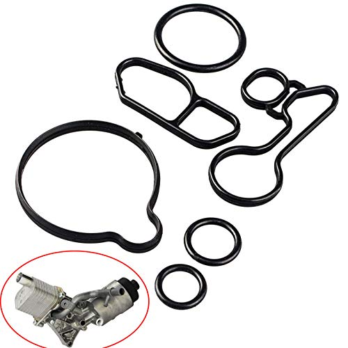 (Oil Cooler Thermostat Housing Seals Gasket Kit fits Chevrolet Cruze Limited Sonic Trax 1.4L Turbocharged Oil Filter Housing)