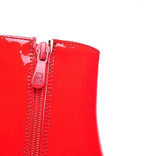 Balamasa Damer Metall Prydnaden Unik Plattform Mode Kon-form Häl Imiterade Läderstövlar Röda