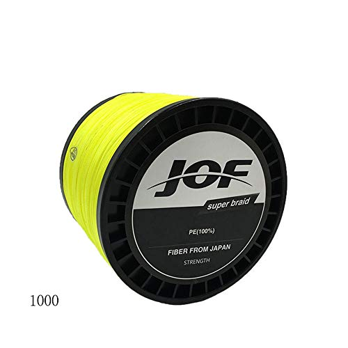 Foreverharbor Super Strong 8 Series Solid Color 1000 Meters Vigorous Horse Fishing PE Anti-bite Weave Fishing Line