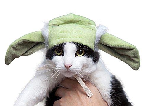 Pet Yoda Cat or Dog Ears - Costume Accessory - Cat]()