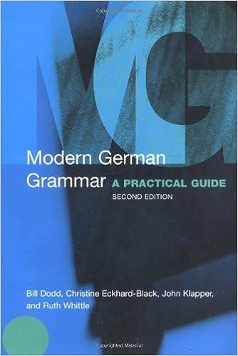 Modern German Grammar: A Practical Guide (Modern Grammars) books pdf file
