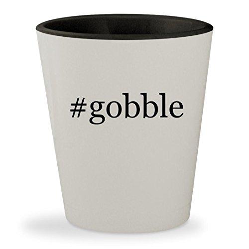 Price comparison product image #gobble - Hashtag White Outer & Black Inner Ceramic 1.5oz Shot Glass