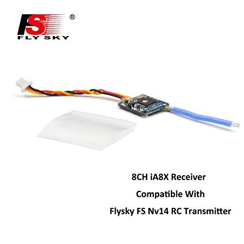 (Flysky FS-iA8X Receiver, 8CH Bi-Directional Transmission i-Bus/PPM Remote Control Receiver for FS-Nirvana FS-NV14 FS-i6 FS-i6s FS-i6x FS-i8 FS-i10 Transmitter RC Quadcopter)