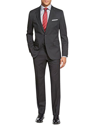 Salvatore Exte Men's Suit Two Button Side Vent Jacket Flat Front Pants (52 Regular US / 62R EU/W 46