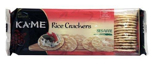 Kame Sesame Crackers - Ka-Me Rice Crunch Sesame Crackers (12x3.5Oz) by Ka-Me