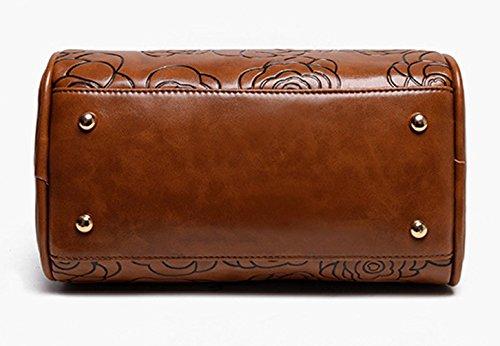 Keshi Pu Cool Damen Handtaschen, Hobo-Bags, Schultertaschen, Beutel, Beuteltaschen, Trend-Bags, Velours, Veloursleder, Wildleder, Tasche Braun