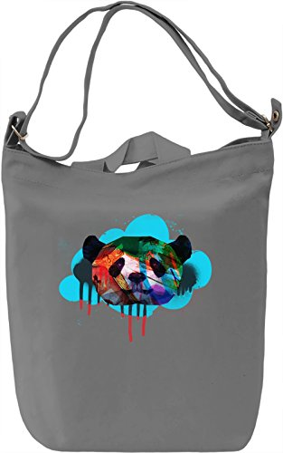 Superb Panda Borsa Giornaliera Canvas Canvas Day Bag| 100% Premium Cotton Canvas| DTG Printing|