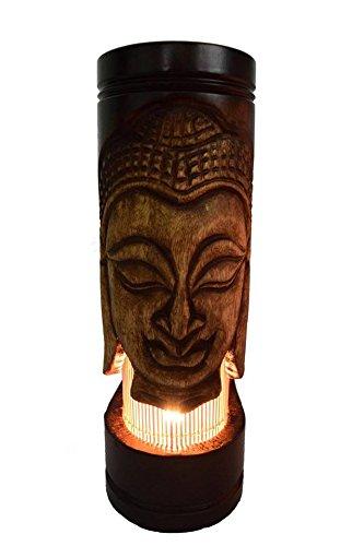 EKON_SHOP Thai handmade vintage wooden lamp from mango wood (412 inch B) by EKON_SHOP