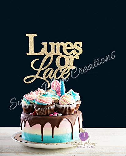 - Lures or Lace Cake Topper