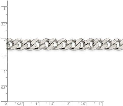 Brilliant Bijou Solid .925 Sterling Silver 1.75mm Figaro Chain Bracelet