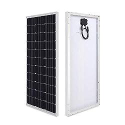 HQST 100 Watt 12 Volt Monocrystalline Solar Panel (100W Compact Design)