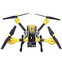 Owill K70C Sky 2.4G 4CH 6 Axis 3D Headless 2MP Camera RC Quadcopter Drone ABS Fuselage For Durable Use (Yellow)