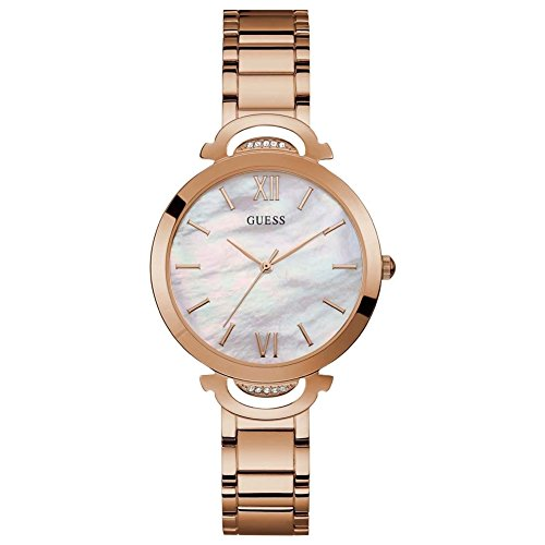 Guess Opal Mother of Pearl Dial Stainless Steel Ladies Watch W1090L2