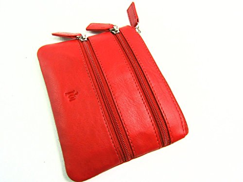 Card Purse Leather Premium Soft Mens Credit Wallet Womens TURQUIOSE Red Super Ladies Pouch Coin Genuine Holder YSvqCxOECw