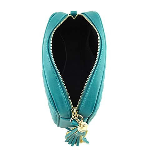 Crossbody With Turquoise Bag And Metal Zipper Shoulder Strap Simple Chain Top Tassel SxZwa