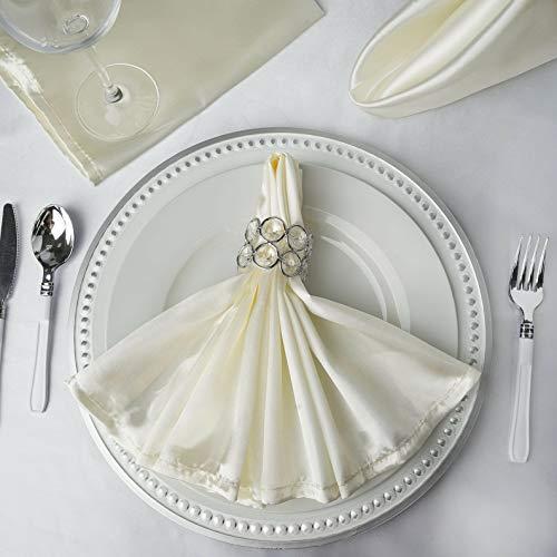 Mikash 20 Satin Napkins Wedding Party Shower Table Supply Decorations Wholesale | Model WDDNGDCRTN - 4410 | 25 pcs