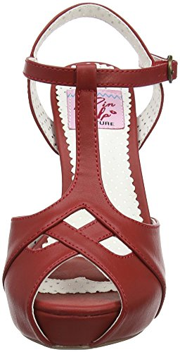 Faux Sandal Platform Leather Couture Pinup Bett23 Rpu Red Women's Z1nwvU0