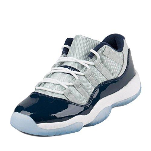 buy popular 579d3 f4f1a ... low cost nike boys air jordan 11 retro low bg georgetown grey mist white  midnight navy