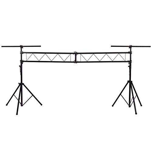 Mobile Truss System - Safstar Pro Audio Mobile DJ Portable Stage Light Truss System Light Stands Lighting Fixture w/2 T-bars