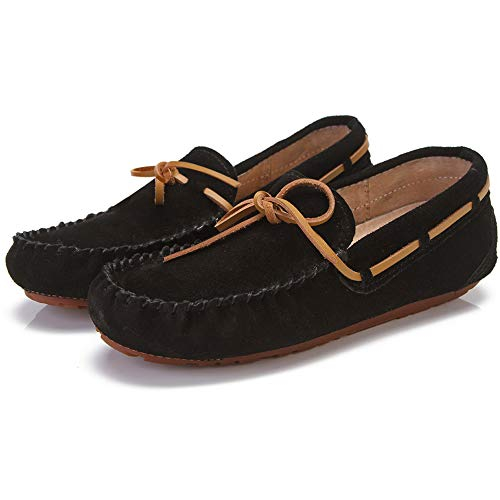 Urbancolor Womens Moccasins Slippers Breathable Driving Loafers Women Casual Flat Suede Shoes Black