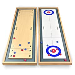 Finally, you can enjoy an easy to set-up tabletop version of Shuffleboard and Curling! GoSports brings to you one of the best value 2-in-1 bundles of traditional games that can now be enjoyed anywhere and anytime by adults and kids alike. Pla...