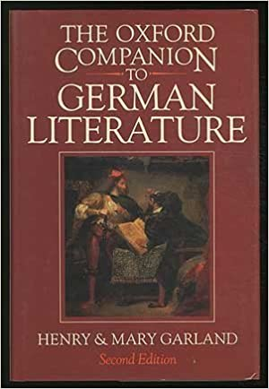book cover for The Oxford Companion to German Literature