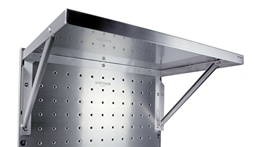 Stainless Steel Short Shelf Accessory for System X Pegboard 26'' x 17 x 2'' by System X Storage