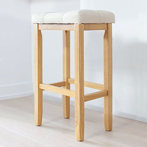 Nathan James 21203 Hylie Wood Pub-Height Kitchen Bar Stool,